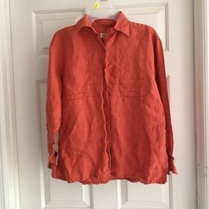 Vintage Banana Republic Orange Button Down Top